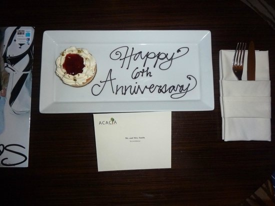 Acacia Hotel Manila: Nice Touch....well done Acacia