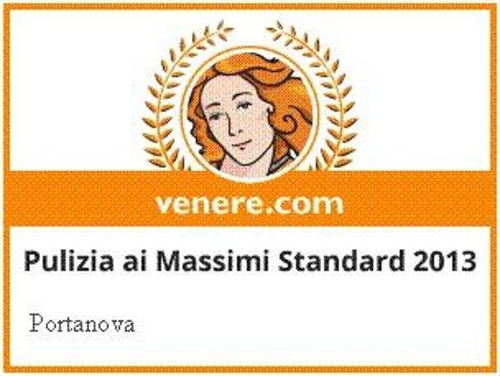 Portanova B&B : Premio 2013 pulizia massimi standard da venere.com