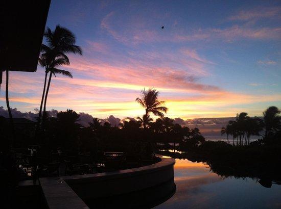 Grand Hyatt Kauai Resort & Spa : sunset from the terrace