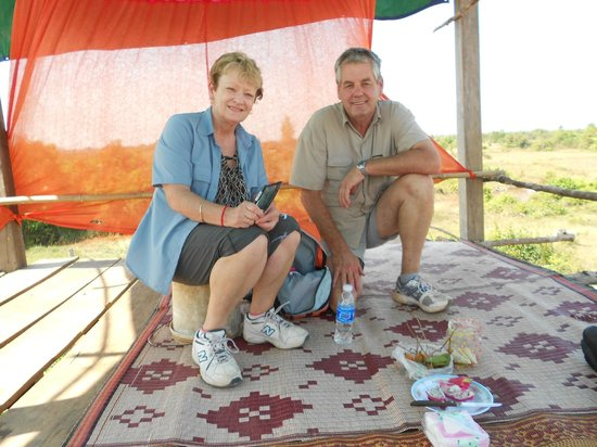 Khmer Ways - Moto Adventures Day Tours: Having a lovely picnic snack