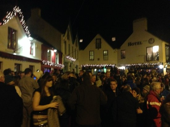 Fastnet House: New Years Eve in the square