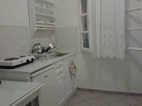 Reverie Santorini Hotel : cucina camera