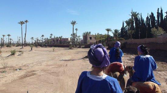 Hôtel Dar Sabra Marrakech : Ballade à dos de dromadaire..