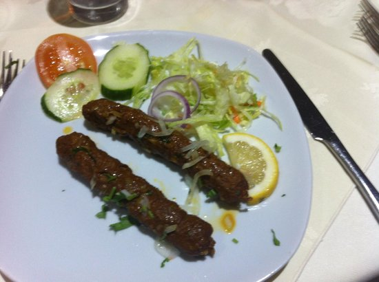 Shapla Indian Restaurant: Shish kebab starter