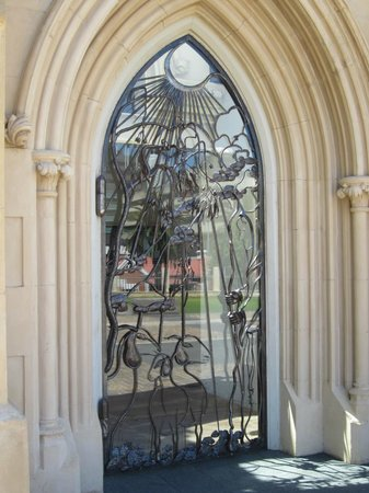St. Mary's Cathedral: Front door - beautiful iron work