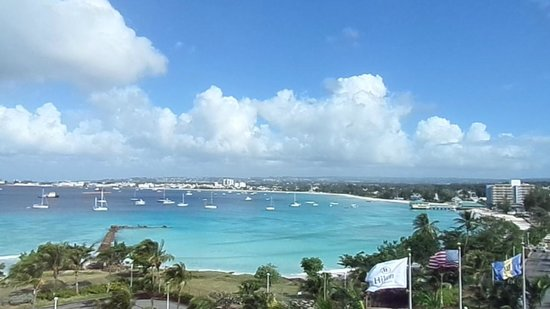 Hilton Barbados Resort: view from my room balcony