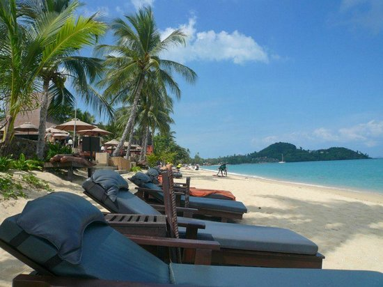 Bo Phut Resort & Spa: Strand Westseite