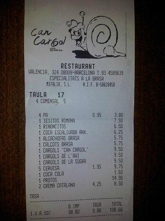 Restaurante Can Cargol: NO OS MIENTO