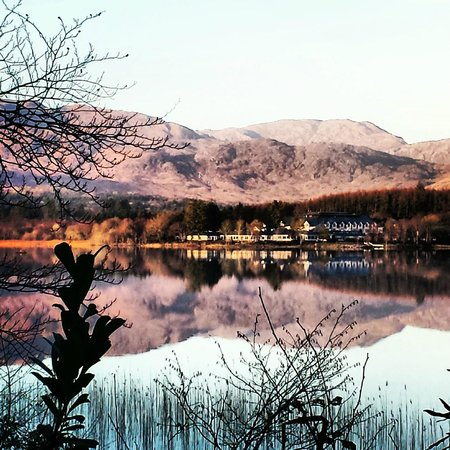 Lough Eske Castle, a Solis Hotel & Spa: View across the lake from the Driveway
