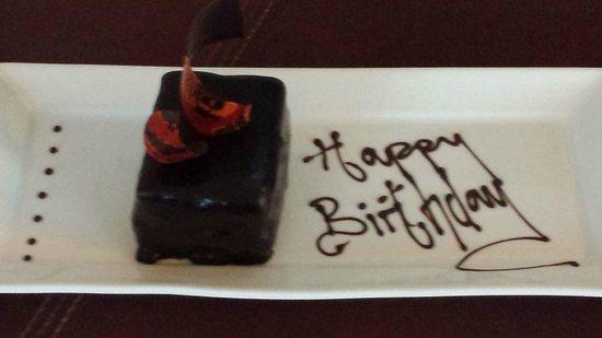 Lough Eske Castle, a Solis Hotel & Spa: Complimentary birthday treat
