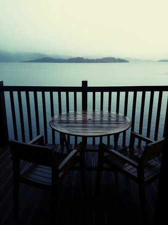 Lodge on Loch Lomond: View from room balcony