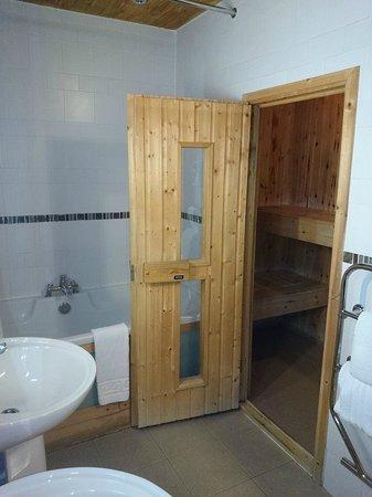 Lodge on Loch Lomond: sauna in room