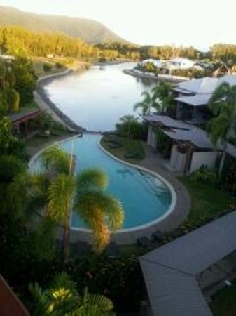 Blue Lagoon Resort: The view of the pool & lagoon from our room