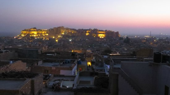 View from roof toip of Narayan Niwas Palace hotel in jaisalmer