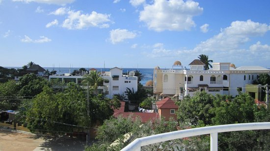 Taino Accomodation : The view from the roof. Sunset is stunning.