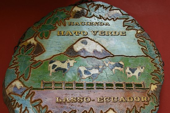 Hacienda Hato Verde: Sign on Front door