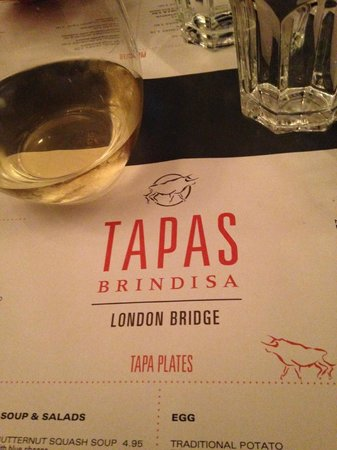 Tapas Brindisa London Bridge : mise en place