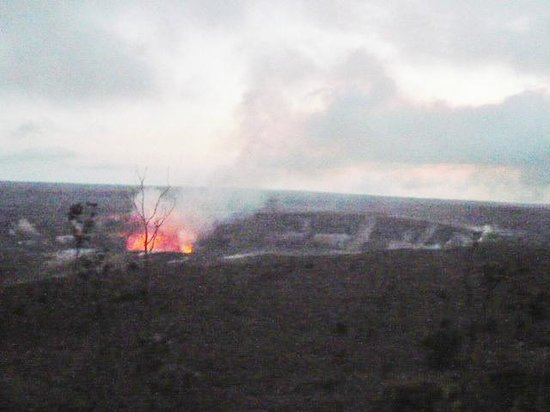 Kilauea Volcano Military Camp: 1.5 mile from the Dagger Museum/Volcano view point