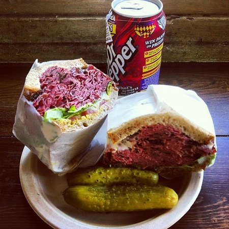 Reuben Sandwich Corned Beef Sandwich And A Cold Can Of Dr Pepper Image Taken