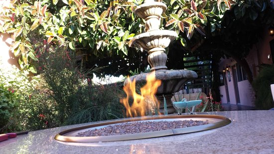 Hotel California: Firepit to help remove the chill in the morning
