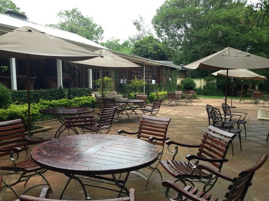 Jatinga Country Lodge: Main patio area