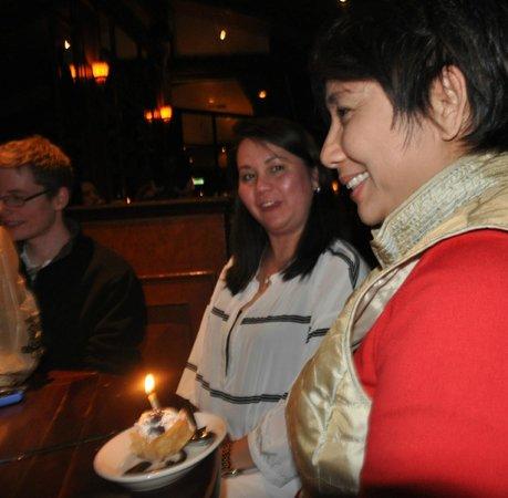Elephant Bar & Restaurant : A complimentary  ice cream dessert for special occasions