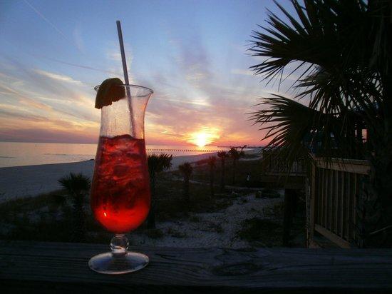 Sunset from Shaggy's Beach Bar by Ian Cox