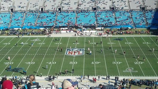 The Bank of America Stadium: Great veiw from our seats