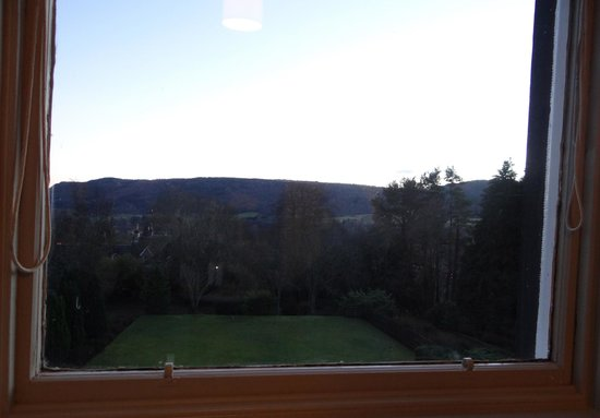 The Pitlochry Hydro Hotel: view from our room