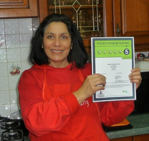 Sajla's Taaza Curry: Our Food & Hygiene rating... 5 Star :)