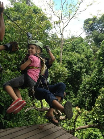 Canopy Adventures: Mia is only 6 and just eating this up!