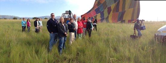 Bill Harrop's Original Balloon Safaris: Landing Celebration