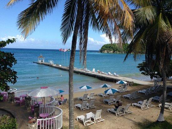 Shaw Park Beach Hotel & Spa: från balkonen