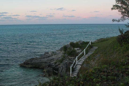 Cambridge Beaches: Steps leading down to the private cove from our room