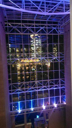 Hilton Frankfurt City Centre : view from the elevator
