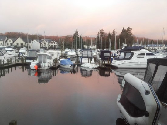 Windermere Marina Village: the view from my bedroom window every morning :)