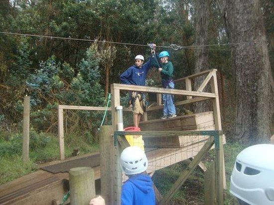 Skyline Eco-Adventures Zipline Tours: Prepping for Zipline #3