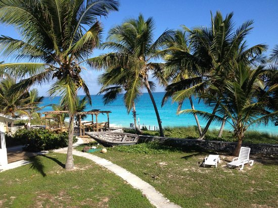 Exuma Palms Hotel: The view of the oceanside grounds