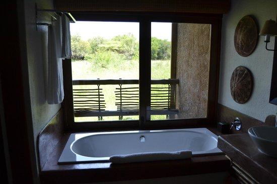 Kapama River Lodge: Ecco una foto della vasca che da direttamente sulla riserva