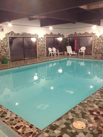 Marmot Lodge: Indoor pool with sauna and whirlpool