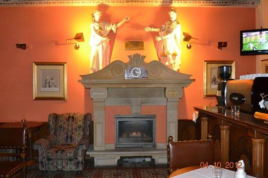 Hotel U Krale Karla (King Charles): caminetto