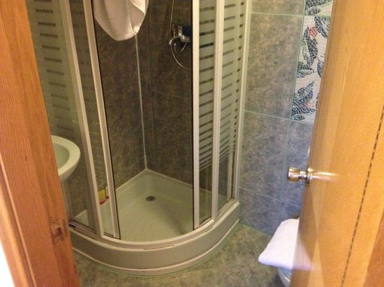 Kensington Suite Hotel: The tiny shower