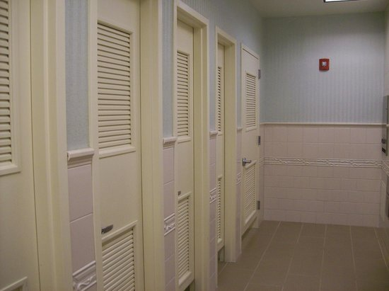Embassy Suites by Hilton Raleigh - Durham Airport/Brier Creek: Inside the Public Restrooms, very private Stalls