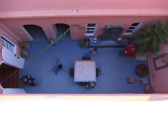 Central courtyard seen from roof terrace, Maison Xanadu