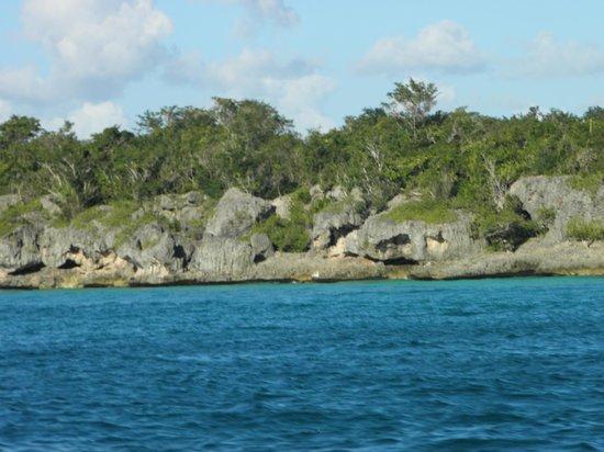 Grand Bahia Principe Punta Cana: скалы в Карибском море