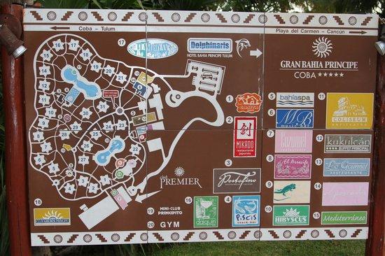 Coba Resort Map - Picture of Grand Bahia Principe Coba ...