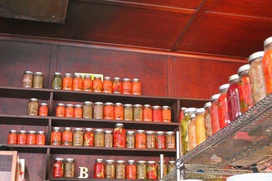 Besaw's: Jars of peppers