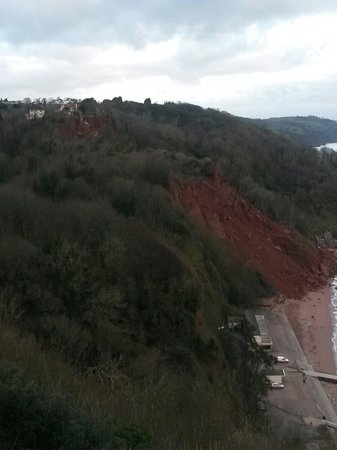 Babbacombe: House on the edge of a falling cliff