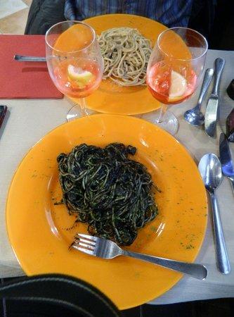 Osteria Ae Cravate : spaghettis et bigolis
