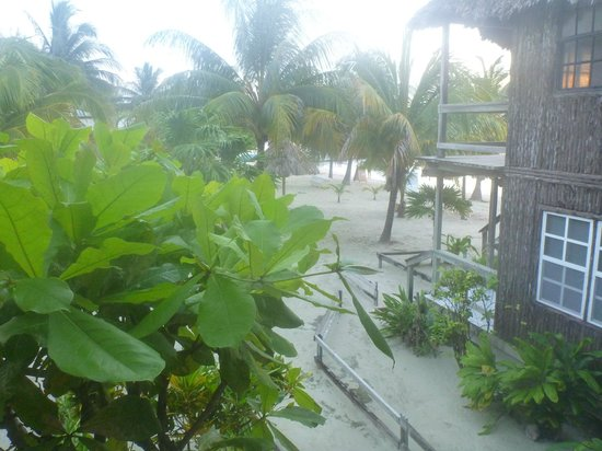 Exotic Caye Beach Resort : View from our upstairs room